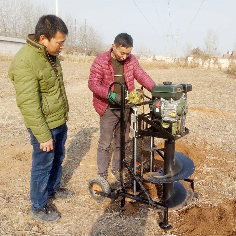 汽油大马力手推框架植树挖坑机