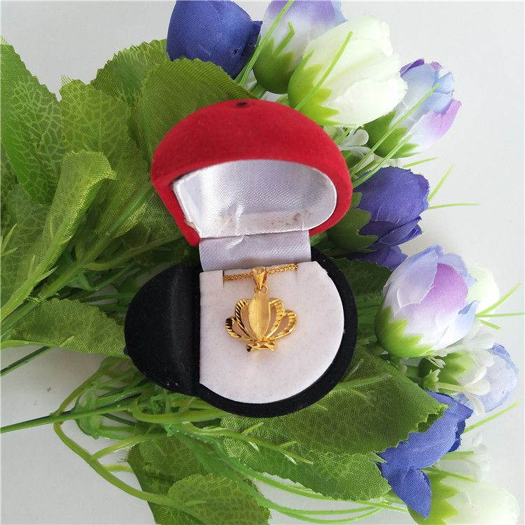 骥远包装专业生产绒布七星瓢虫型吊坠盒戒指盒耳钉盒高档项链盒