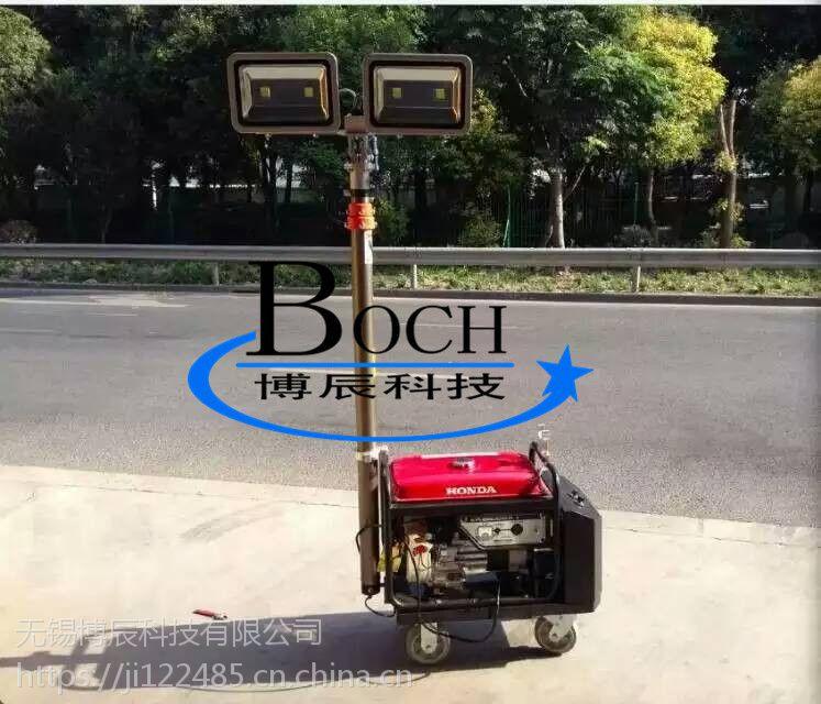 博辰QD-BC-6多节气动升降杆 移动照明灯车 升降式避雷针支架