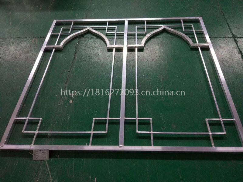 定制镂空焊接铝窗花,门式铝窗花
