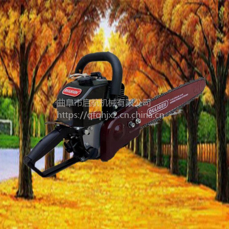 苗木成活率高移栽机 启航汽油手提链条挖树机 园林树木移栽挖树机