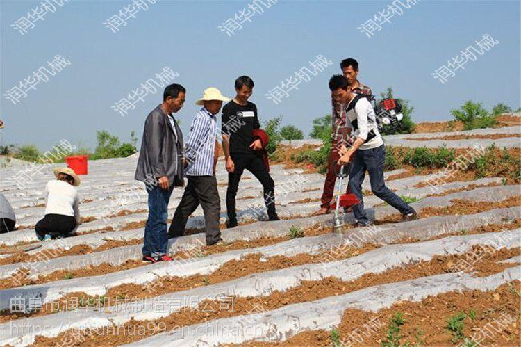 背负式烟钻打孔机 江西赣州烟农种植钻眼机 润华制造
