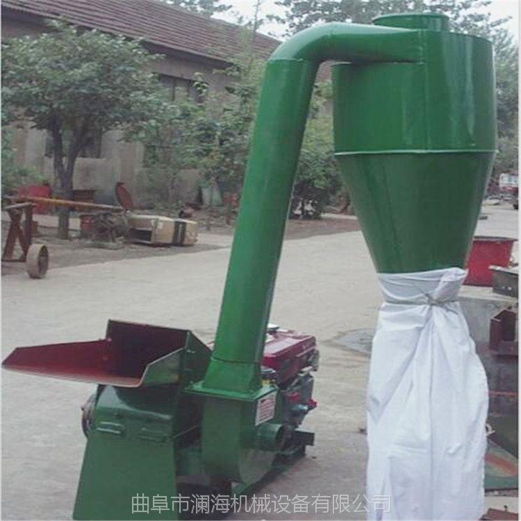 除尘式秸秆打糠机 单沙克龙锤片粉碎机 花生秧粉碎机参数