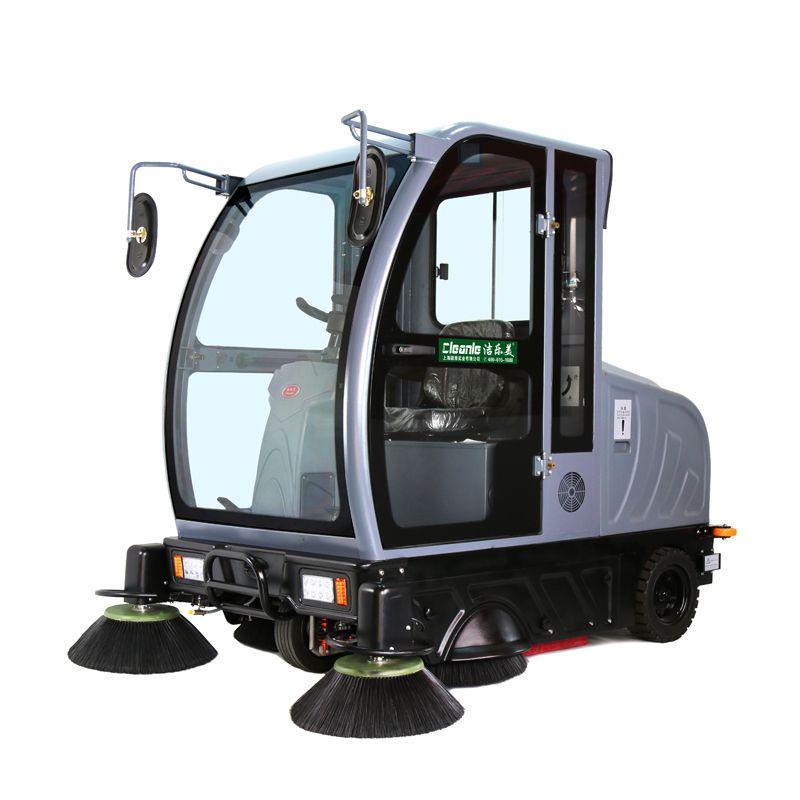 洁乐美KM-V5全封闭驾驶式扫地机滚塑材机身耐撞坚固园林公园旅游区用清扫车