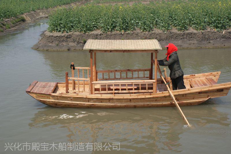 殿宝木船加工定制传统 欧式 仿古做旧木船