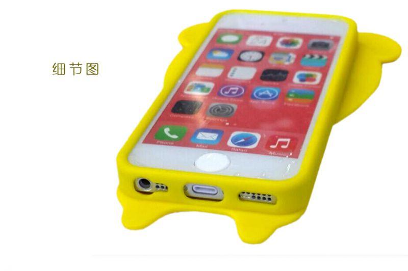 内置熊苹果6plus后盖4手机壳耗电小米可镂空照iphone7透视开心图片
