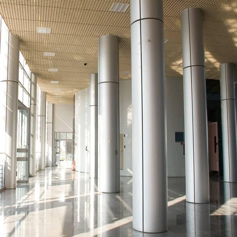 佛山欧百建材-2.5mm厚包柱铝单板厂家订购热线13422371639李先生