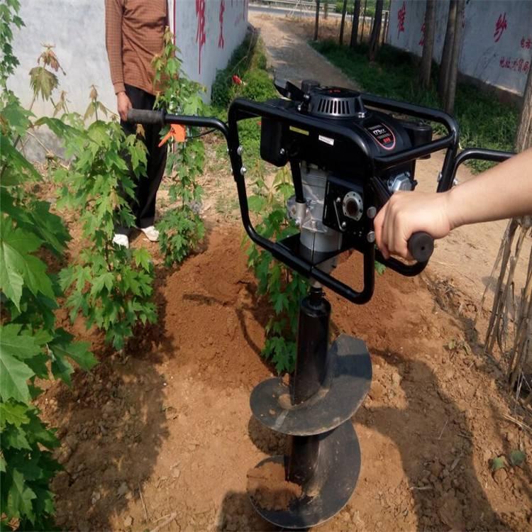 栽电线杆用挖坑机 四轮车带动的大型挖坑机润众