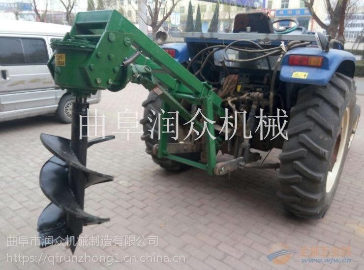 拖拉机挖坑机动力强劲 坚硬土地专用挖坑机 植树造林打孔机