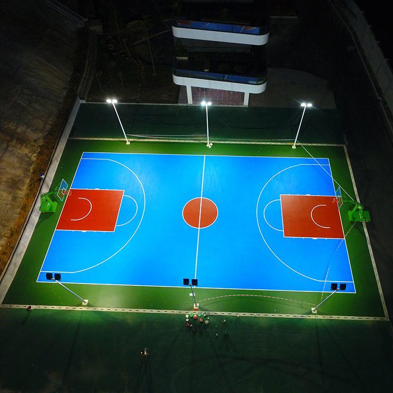 贵州圆形灯杆型号 金卤灯杆照度多少合适 篮球场照明灯光