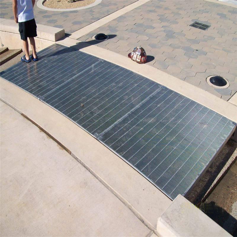 住宅小区排水沟盖板 钢格栅板 镀锌钢格板