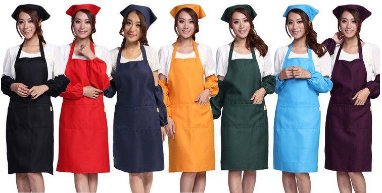 印字logo背带围裙西餐厅男女服务员围裙工作服超市促销员广告围裙