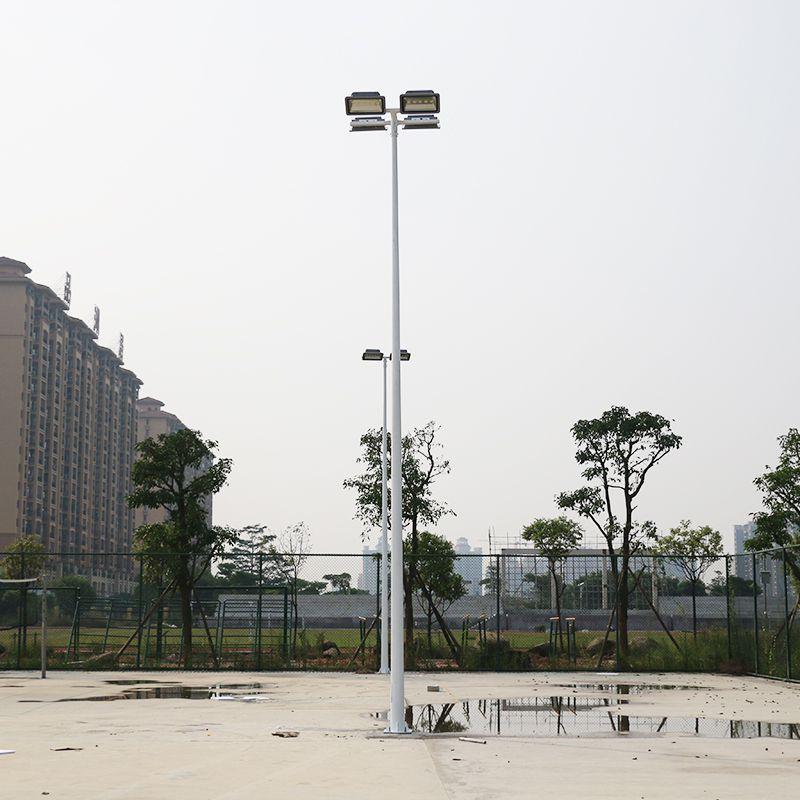 广州镀锌灯杆厂家含地笼 篮球场灯柱照明度 热销篮球场LED灯杆