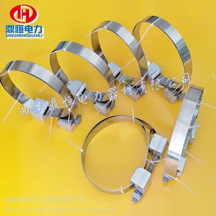 不锈钢带紧固夹具电线杆用紧固线夹 光缆金具