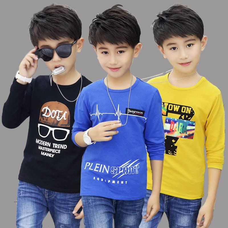 时尚童装秋装卡通长袖T恤批发 价格便宜 质量保证 多颜色批发
