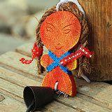 【小额风铃】民族风情之东巴娃娃鱼饰品怎么要到小伶玩具的微信图片