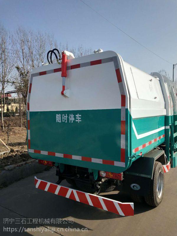 5方挂桶式垃圾车厂家直销福田底盘汽油垃圾清运车多少钱济宁三石