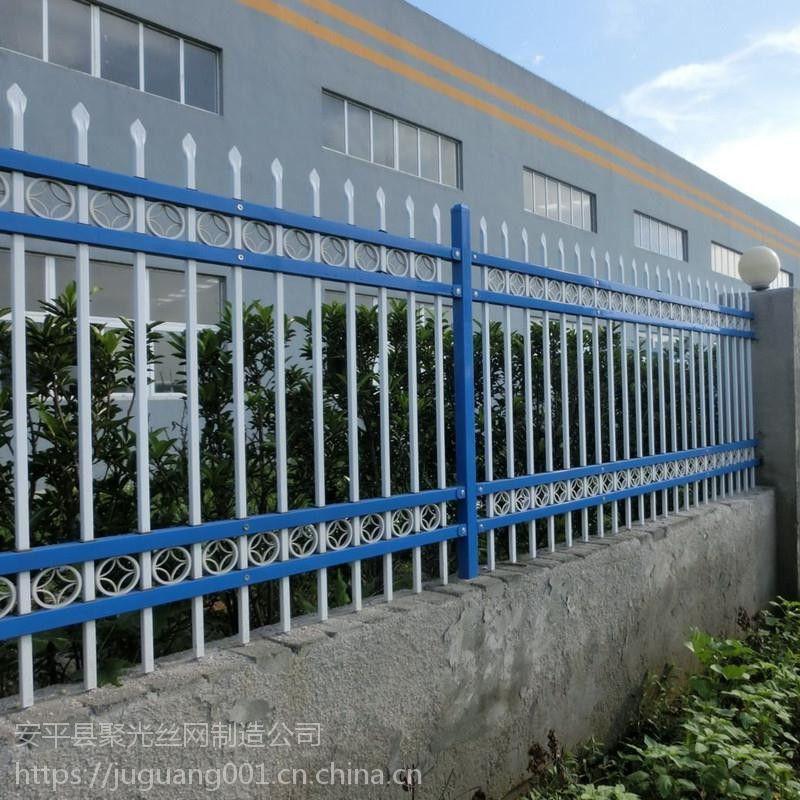市政护栏 道路护栏 锌钢市政交通护栏网 道路隔离防护栏蓝白 锌钢护栏