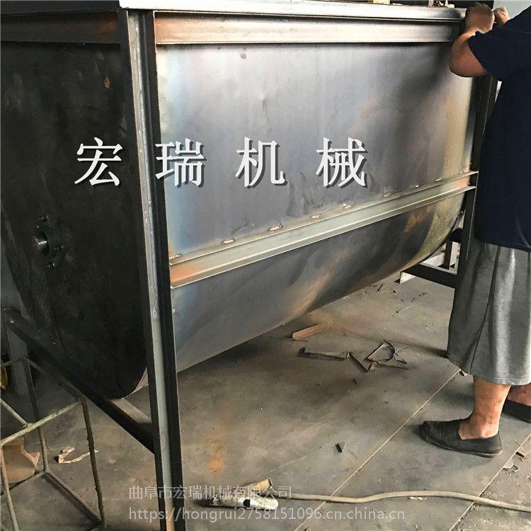 湖北猪饲料粉碎搅拌机 宏瑞高效农作物饲料拌料机宏瑞生产基地