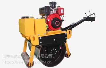 宣传地区供应 克勒斯1吨小型压路机 双驱双振性能强劲