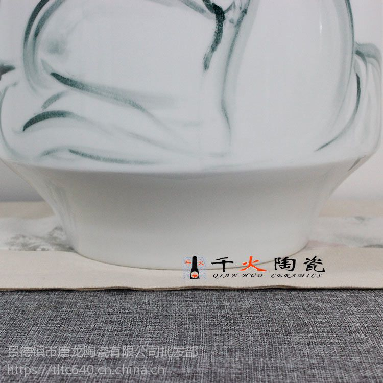 景德镇手绘陶瓷花瓶批发厂家 千火陶瓷