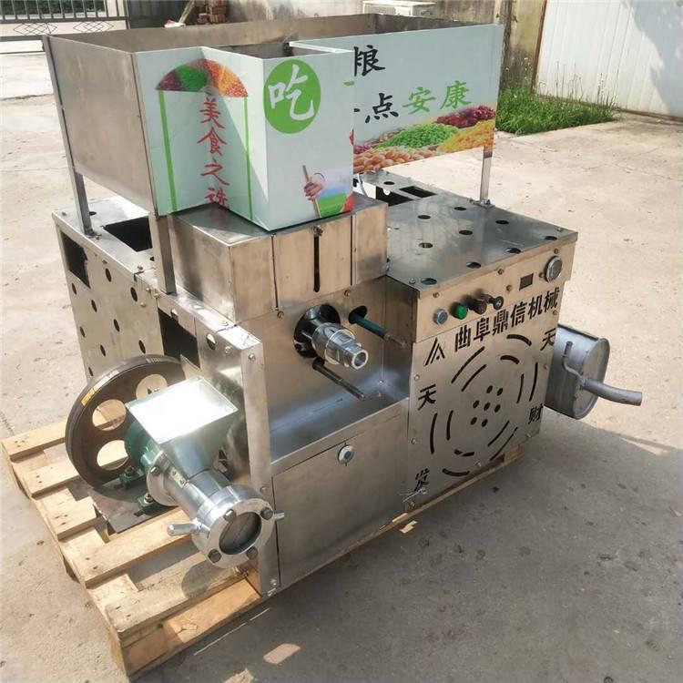 菏泽赶集会江米棍康乐果机器 康乐果粽子膨化机 空心型玉米膨化机