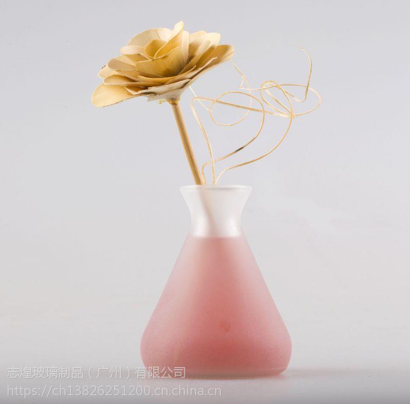 140毫水滴形干花净化空气室内摆件玻璃香薰瓶玻璃生产批发