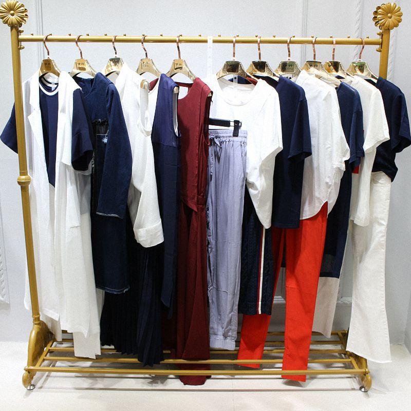 杭州品牌E15夏季女装品牌折扣尾货批发