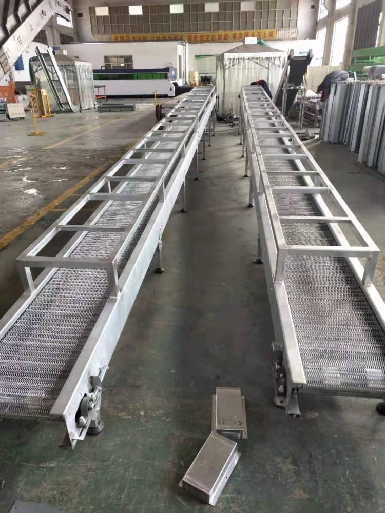 小型网带输送机 传送机流水线 食品运输机 蔬果清洗输送晾干机 自动化输送设备 德隆定制