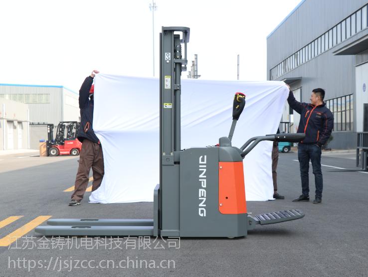 金彭叉车 1.6吨电动堆垛车 JPCDD16FSB 站驾式仓储电动叉车