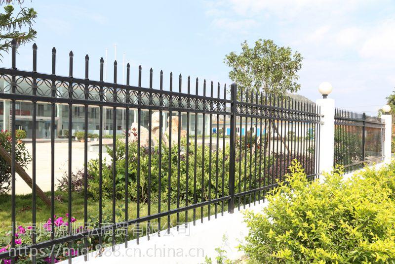 郑州喷塑围栏栅栏,Q235郑州组装围墙护栏,锌合金河道围栏HC,拼组式草坪栅栏