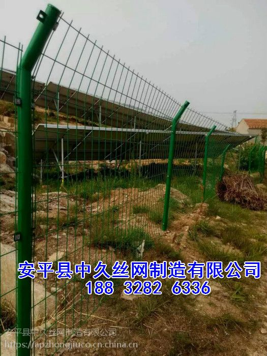 桃型柱双夹丝护栏网双边丝护栏 场地护栏 湖边安全网