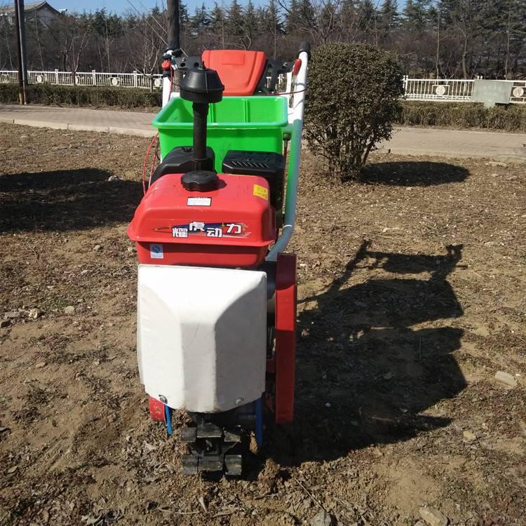 新品上市小块地施肥播种机汽油轮式耘地机手扶式中耕除草机