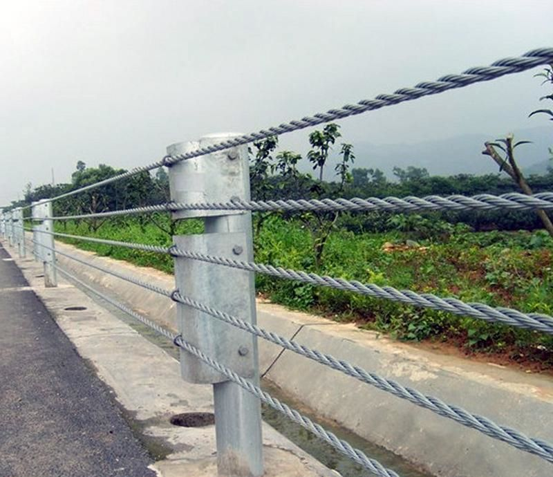 景区缆索护栏厂家@景区缆索防撞护栏@景区钢缆索护栏