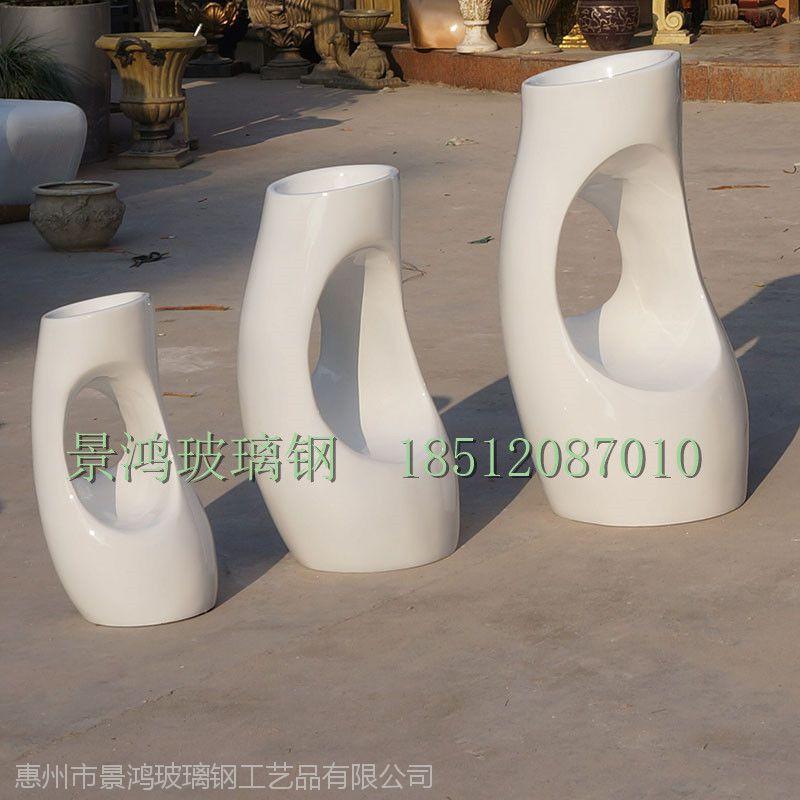 供应玻璃钢树洞花盆座椅摆件 户外异形花盆高档组合图片