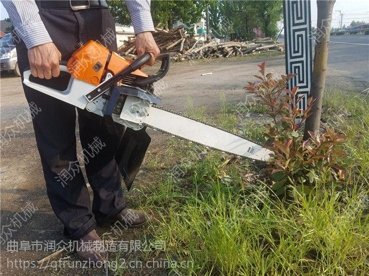 园林手提式挖树机批发 单人操作汽油挖树机 润众