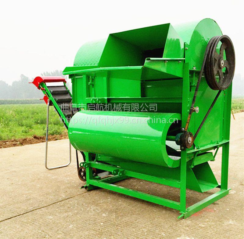 能鲜花生去秧机 干湿两用花生摘果机 四轮车带边走边摘果机