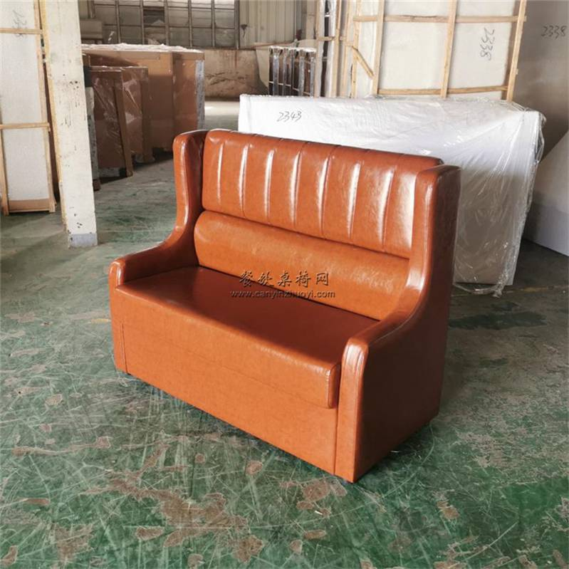 惠州咖啡店沙发哪里买?惠州美式双人位咖啡厅卡座沙发定制