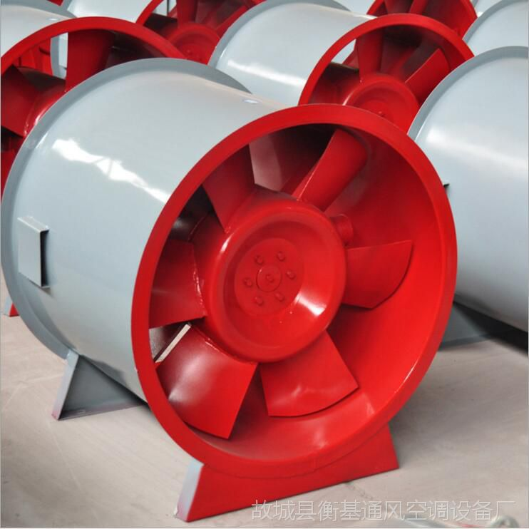 厂家直销HTF-8消防排烟轴流风机3C单双速耐高温高效率工程风机