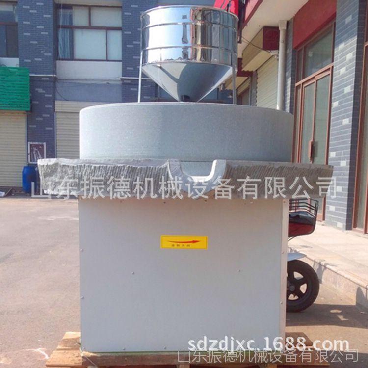 高效碾转石磨 商用节能电动石磨 振德 砂岩石石磨 多型号