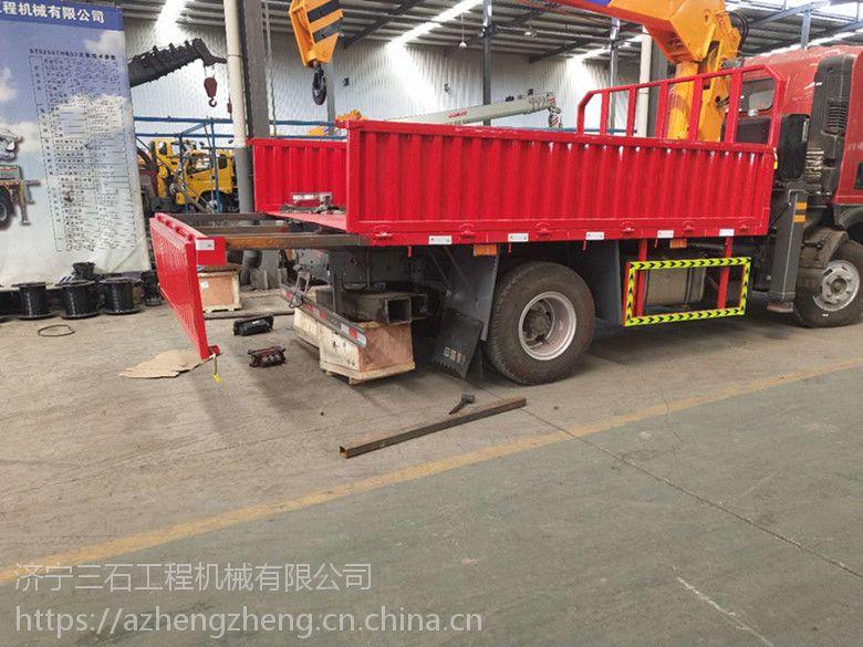 山东济宁可以找到上蓝牌的3.2吨随车吊 凯马底盘随车吊 臂长3米3节 云内增压发动机