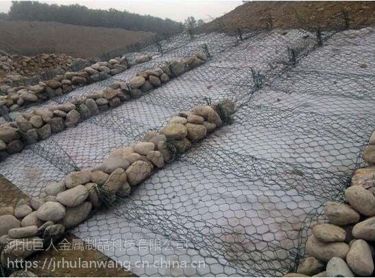 巨人镀锌石笼网,河道格宾网,三拧石笼网网箱,多种丝径