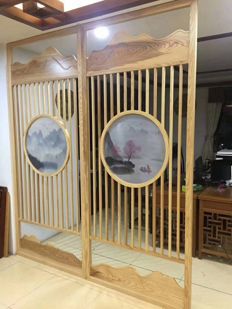 仿古木纹铝花格 中式窗花格