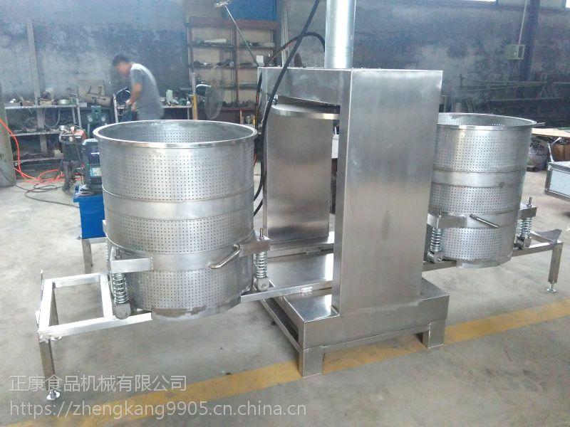 不锈钢食品双桶轮换式压榨机价格 油脂压榨机厂家 商用可定制