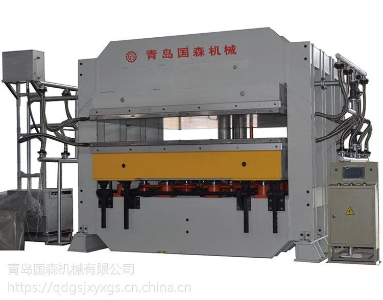 高精度芳纶纸蜂窝板四柱热压机液压120t