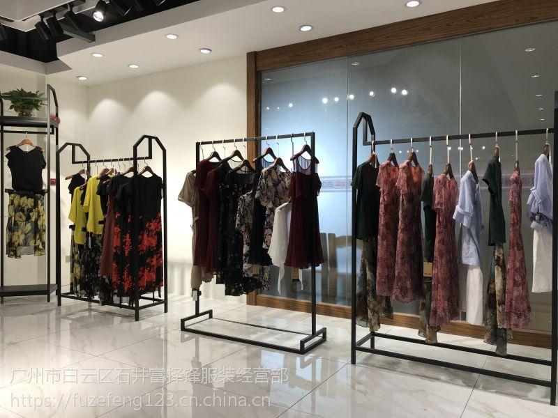 杭州轲雅17纯夏装女装品牌折扣尾货渠道