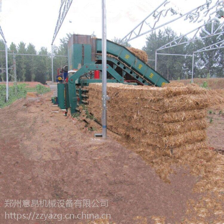 陕西西安供应意昂液压机械设备半自动卧式废纸秸秆打包机