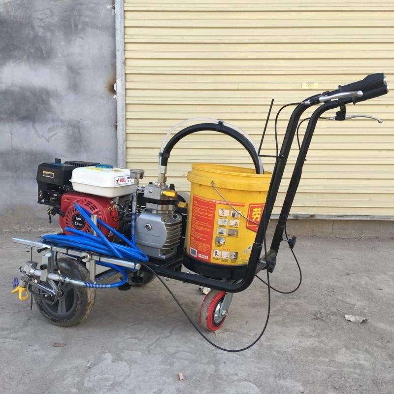 路面公路划线机 斑马线冷喷标线机 自走式画线机厂家