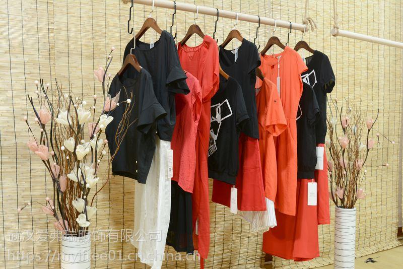 杭州品牌女装米奥多尾货库存走份 18年杭州货源女装折扣批发