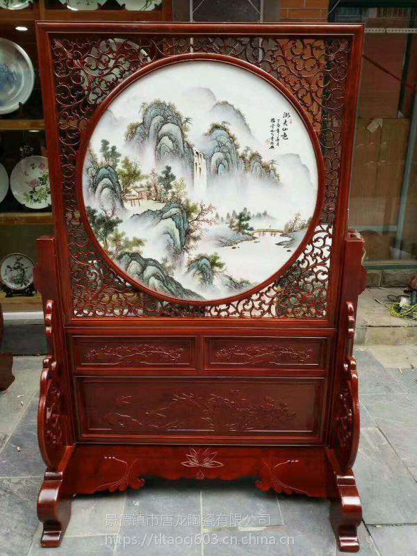 手绘瓷板画供应景德镇陶瓷定制厂家